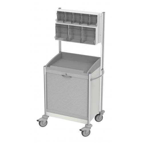 Verband- und Behandlungswagen keo IV mit Rollladen