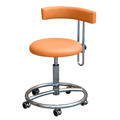 Arbeitsstuhl Belmed mit Fußring und höhenverstellbarer Rückenlehne