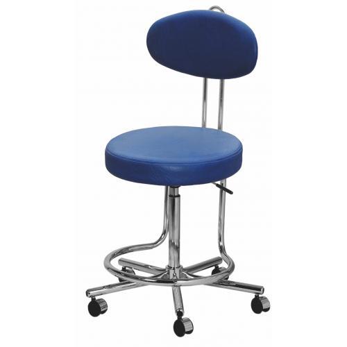 Arbeitsstuhl Rollhocker Ideal mit Fußring