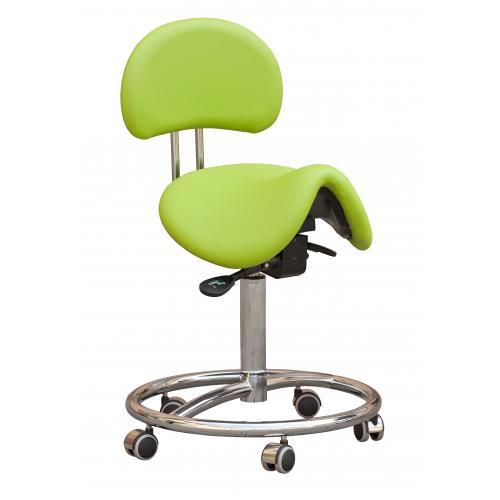 Arbeitsstuhl Rollhocker Sattelsitz Ivy mit Fußring