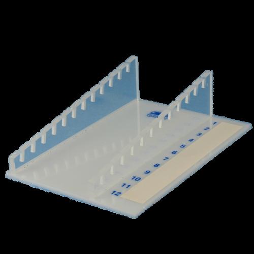Assistent Ablagegestell aus Plexiglas für 12 Objektträger
