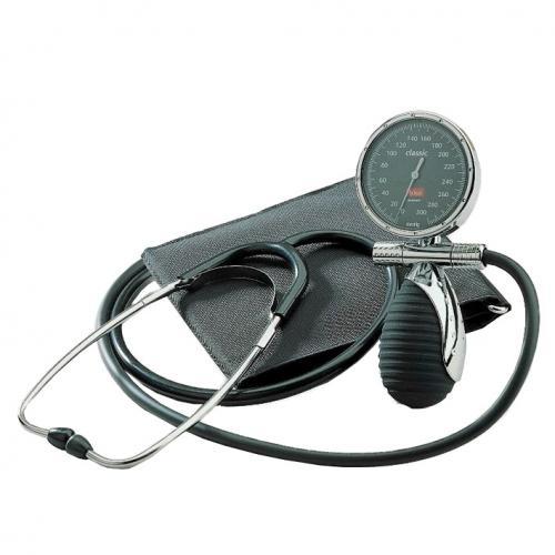 Blutdruckmessgerät boso classic privat Ø 60 mm mit Stethoskop und Klettmanschette