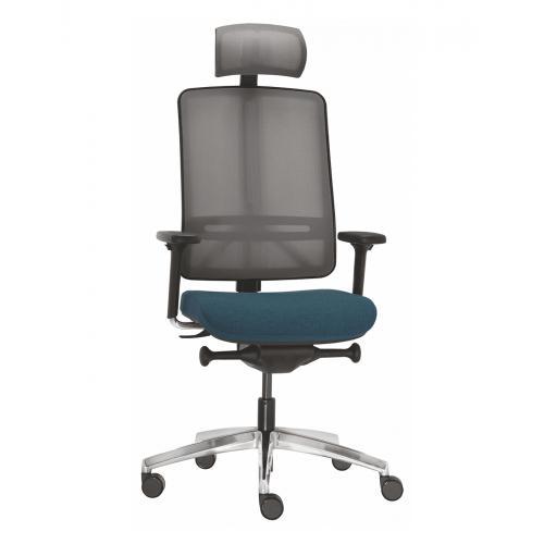 Bürodrehstuhl FLEXI Executive mit Nackenstütze und Armlehnen