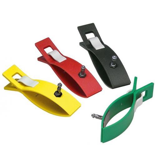 Extremitäten-Klammerelektroden für Erwachsene im Set schwarz, rot, gelb, grün
