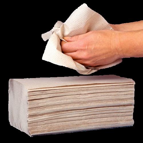 Papier-Handtücher natur 1-lag. 25 x 23 cm