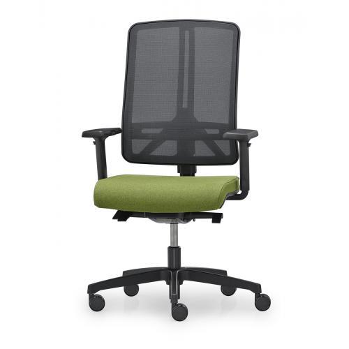 Bürodrehstuhl FLEXI Basic mit verstellbare Netz-Rückenlehne und Synchonmechanik