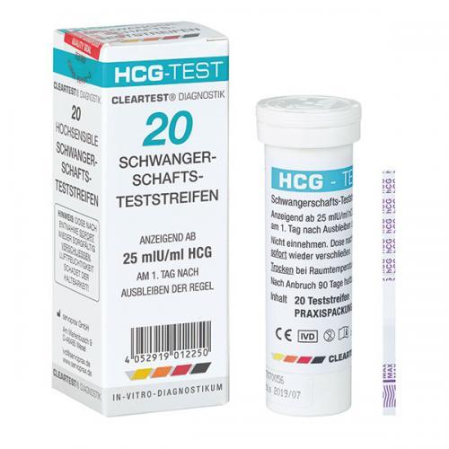 HCG - Schwangerschafts-Teststreifen Cleartest (20 Stck)