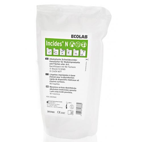 Incides N Desinfektionstücher Nachfüllpackungen 5 x 90 Tücher