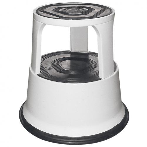Rolltritthocker schwarz-weiß