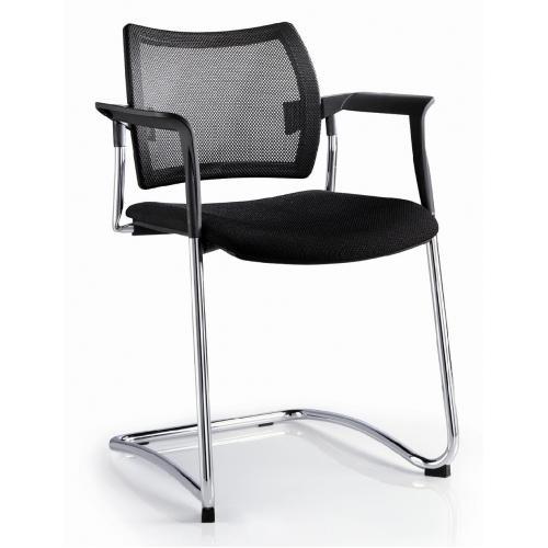 Schwingstuhl CHOICE Netzrücken Sitz gepolstert