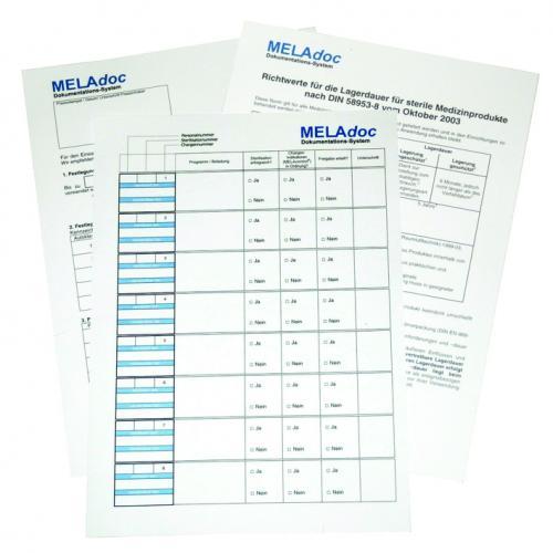 MELAdoc Dokumentationsblätter (10 x 100 Blatt)