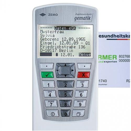 Mobiles Chipkartenlesegerät VML-GK2 (1+) weiß/silber