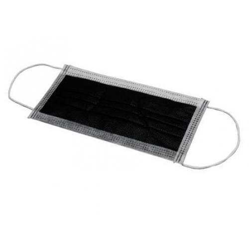 Mundschutz schwarz Black Surgical Mask (50 Stck)
