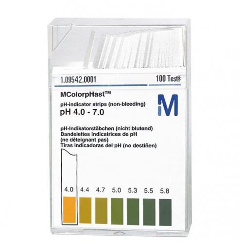 pH-Indikatorstäbchen pH von Merck (100 Stck)
