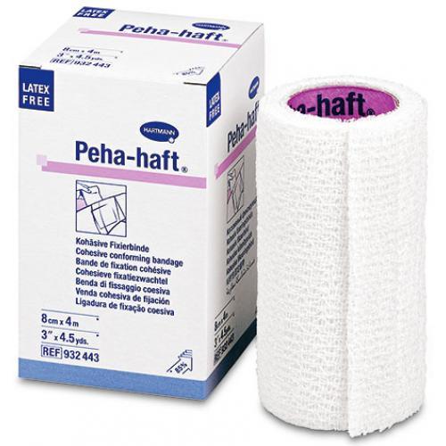 Peha-haft latexfrei weiß kohäsive Fixierbinde von Paul Hartmann