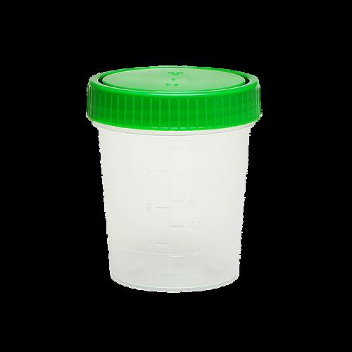 Urinbecher 125 ml mit grünem Schraubdeckel (500 Stck)