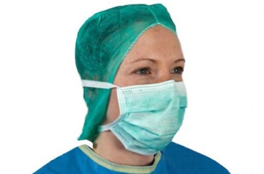 OP-Mundschutz mit Bindebändern grün von NOBA MED (50 Stck)