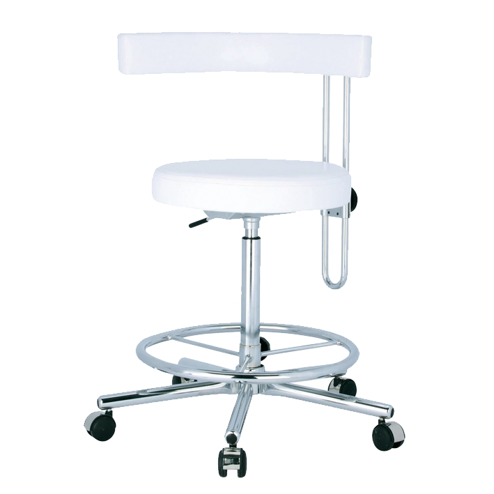 arbeitsstuhl dental mit fu ring und h henverstellbarer r ckenlehne online kaufen im shop. Black Bedroom Furniture Sets. Home Design Ideas