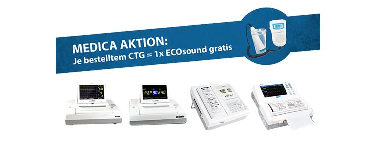 1 x ECOsound Fetaldoppler gratis MEDICA